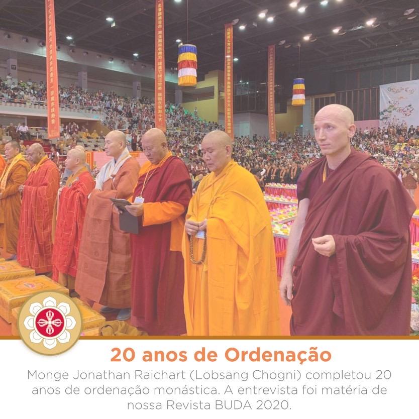 Entrevista com o monge Jonathan (Lobsang Chogni) sobre seus 20 anos de ordenação