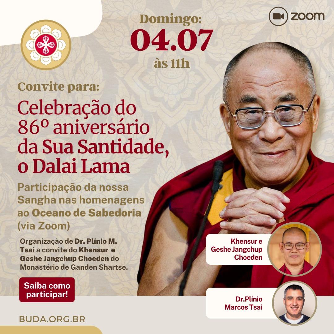 Celebração do 86º aniversário da Sua Santidade, o Dalai Lama